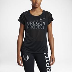 """Женская беговая футболка с коротким рукавом Nike Breathe """"Oregon Project""""Женская беговая футболка с коротким рукавом Nike Breathe """"Oregon Project"""" из легкой влагоотводящей ткани обеспечивает охлаждение и комфорт на всей дистанции.<br>"""