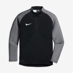 Футболка для футбольного тренинга с длинным рукавом для школьников Nike Strike AeroSwiftФутболка для футбольного тренинга с длинным рукавом для школьников Nike Strike AeroSwift из быстросохнущего дышащего материала с технологией AeroSwift позволяет сохранить ощущение прохлады и обеспечивает естественность движений на поле.<br>