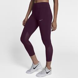 Женские укороченные тайтсы для бега Nike Epic LuxПлотная удобная посадкаЭластичная ткань Nike Power обеспечивает поддержку и свободу движений. Широкий завышенный пояс поддерживает мышцы корпуса во время пробежки и после нее.<br>