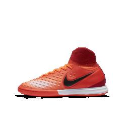 Футбольные кроссовки для игры в зале/на поле для школьников Nike Jr. MagistaX Proximo II (4Y–6Y)Футбольные бутсы для игры в зале/на поле для школьников Nike Jr. MagistaX Proximo II обеспечивают непревзойденное касание и точный контроль во время игры в мини-футбол в помещении или на улице.<br>