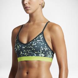 Спортивное бра с легкой поддержкой Nike Indy Techno GlitchСпортивное бра с легкой поддержкой Nike Indy Techno Glitch обеспечивает адаптивную посадку благодаря тонким регулируемым бретелям. Влагоотводящая ткань и воздухопроницаемая вставка из сетки на спине создают ощущение комфорта.<br>