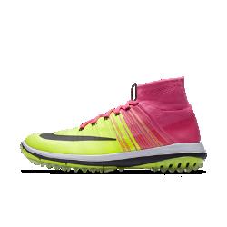 Мужские кроссовки для гольфа Nike Flyknit EliteМужские кроссовки для гольфа Nike Flyknit Elite с безупречной плотной посадкой, невесомой поддержкой и рельефным рисунком протектора для превосходного сцепления.  Комфортная поддержка  Верх из эластичного материала Flyknit плотно облегает стопу, а отворот в области голеностопа защищает от мелкого мусора и предотвращает дискомфорт. Шнурки с интегрированной технологией Flywire создают невесомую поддержку в средней части стопы.  Амортизация без утяжеления  Подошва из материала Lunarlon обеспечивает мягкую амортизацию и легкость.<br>