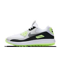 Женские кроссовки для гольфа Nike Air Zoom 90 ITЖенские кроссовки для гольфа Nike Air Zoom 90 IT — новая версия любимой модели Рори Макилроя с водонепроницаемым верхом и превосходной системой сцепления для тех, кто не считает плохую погоду препятствием.  Защита в сырую погоду  Водонепроницаемый верх и внутренняя вставка защищают от влаги и обеспечивают комфорт в дождливую погоду.  Превосходное сцепление  Рисунок Integrated Traction обеспечивает превосходное сцепление и исключительное чувство поверхности, делая каждый свинг более эффективным.  Оптимальная амортизация  Технология Nike Zoom Air в передней части стопы обеспечивает упругую адаптивную амортизацию.<br>
