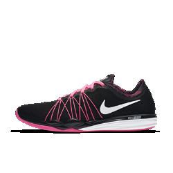 Женские кроссовки для тренинга Nike Dual Fusion HIT PrintЖенские кроссовки для тренинга Nike Dual Fusion HIT Print превосходно защищают от ударных нагрузок и обеспечивают комфорт благодаря слоям мягкого и твердого пеноматериала вподошве. Легкий верх из сетки и система сцепления с разными типами поверхности позволяют заниматься любыми видами спорта.<br>