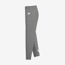 Леггинсы для девочек школьного возраста Nike Club LogoЛеггинсы для девочек школьного возраста Nike Club Logo из эластичной смесовой ткани на основе хлопка обеспечивают удобную посадку, не сковывая движений.<br>