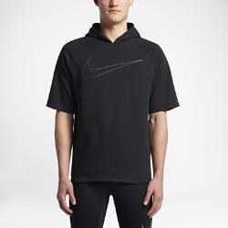 Мужская беговая худи с коротким рукавом Nike (City)Мужская беговая худи с коротким рукавом Nike (City) из влагоотводящей ткани с рукавами покроя реглан обеспечивает естественную свободу движений на протяжении всей пробежки.  Комфорт  Ткань с технологией Dri-FIT отводит влагу и обеспечивает комфорт.  Естественная посадка  Рукава покроя реглан обеспечивают естественную свободу движений, позволяя сосредоточиться на пробежке.  Абсолютная концентрация  Капюшон из трех панелей не создает лишнего объема, позволяя полностью сконцентрироваться на беге.<br>