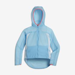 Беговая куртка для девочек школьного возраста Nike Impossibly LightБеговая куртка для девочек школьного возраста Nike Impossibly Light не сковывает движений во время бега и легко складывается в специальный карман после пробежки.  Будь заметнее  Светоотражающие детали делают тебя заметнее во время пробежек вечером или ранним утром.  Универсальность  Во время или после пробежки куртку можно сложить в специальный карман.  Чувствуй легкость  Прочная, водоотталкивающая и невероятно легкая нейлоновая ткань рипстоп помогает сохранять скорость и комфорт.<br>