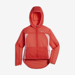 Беговая куртка для девочек школьного возраста Nike Impossibly LightБеговая куртка для девочек школьного возраста Nike Impossibly Light не сковывает движений во время бега и легко складывается в специальный карман после пробежки.<br>