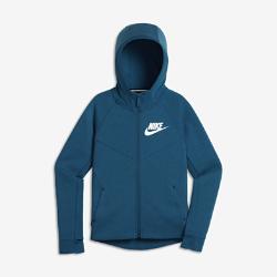 Худи для девочек школьного возраста Nike Sportswear Tech FleeceХуди для девочек школьного возраста Nike Sportswear Tech Fleece из мягкого флиса с удлиненной сзади нижней кромкой обеспечивает комфорт, легкость и тепло.<br>