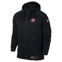 Мужская худи с полноразмерной молнией Nike Hockey CanadaМужская худи с полноразмерной молнией Nike Hockey Canada из комфортной влагоотводящей ткани дополнена символикой национальной сборной Канады.<br>