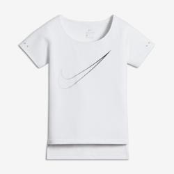 Беговая футболка с коротким рукавом для девочек школьного возраста Nike BreatheБеговая футболка для девочек школьного возраста Nike Breathe City обеспечивает охлаждение, комфорт и свободу движений.<br>