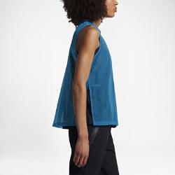 Женская майка Nike Sportswear Tech HypermeshЖенская майка Nike Sportswear Tech Hypermesh из дышащей сетки с разрезами в нижней кромке обеспечивает легкость, комфорт и свободу движений.<br>