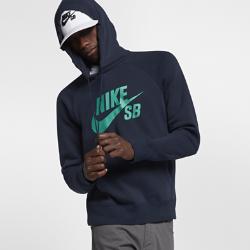 Мужская худи Nike SB IconМужская худи Nike SB Icon с внутренним слоем из флиса с начесом и рукавами покроя реглан отлично защищает от холода и обеспечивает комфорт.<br>