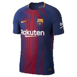 Мужское футбольное джерси 2017/18 FC Barcelona Vapor Match HomeМужское футбольное джерси 2017/18 FC Barcelona Vapor Match Home — реплика модели, в которой выступают профессиональные игроки, с технологией Nike AeroSwift для невероятной воздухопроницаемости, легкости и свободы движений.<br>