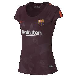 Женское футбольное джерси 2017/18 FC Barcelona Stadium ThirdЖенское футбольное джерси 2017/18 FC Barcelona Stadium Third из легкой влагоотводящей ткани обеспечивает охлаждение и комфорт.<br>