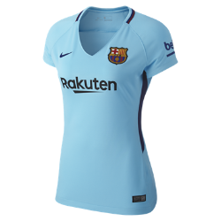 Женское футбольное джерси 2017/18 FC Barcelona Stadium AwayЖенское футбольное джерси 2017/18 FC Barcelona Stadium Away из легкой влагоотводящей ткани обеспечивает охлаждение и комфорт.<br>