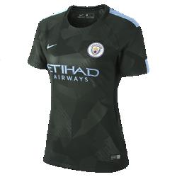 Женское футбольное джерси 2017/18 Manchester City FC Stadium ThirdЖенское футбольное джерси 2017/18 Manchester City FC Stadium Third из легкой влагоотводящей ткани обеспечивает охлаждение и комфорт.<br>