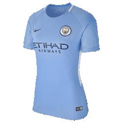 Женское футбольное джерси 2017/18 Manchester City FC Stadium HomeЖенское футбольное джерси 2017/18 Manchester City FC Stadium Home из легкой влагоотводящей ткани обеспечивает охлаждение и комфорт.<br>