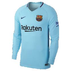 Мужское футбольное джерси с длинным рукавом 2017/18 FC Barcelona Stadium AwayМужское футбольное джерси с длинным рукавом 2017/18 FC Barcelona Stadium Away из дышащей влагоотводящей ткани обеспечивает охлаждение и комфорт.<br>