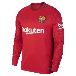 Мужское футбольное джерси с длинным рукавом 2017/18 FC Barcelona Stadium GoalkeeperМужское футбольное джерси с длинным рукавом 2017/18 FC Barcelona Stadium Goalkeeper из легкой влагоотводящей ткани обеспечивает охлаждение и комфорт.<br>