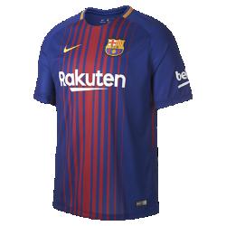 Мужское футбольное джерси 2017/18 FC Barcelona Stadium HomeМужское футбольное джерси 2017/18 FC Barcelona Home из легкой влагоотводящей ткани обеспечивает охлаждение и комфорт.<br>