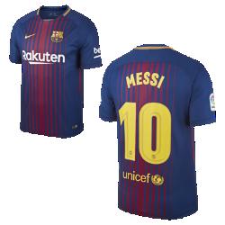 Мужское футбольное джерси 2017/18 FC Barcelona Stadium Home (Lionel Messi)Мужское футбольное джерси 2017/18 FC Barcelona Home из легкой влагоотводящей ткани обеспечивает охлаждение и комфорт.<br>