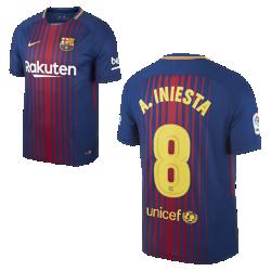 Мужское футбольное джерси 2017/18 FC Barcelona Stadium Home (Andres Iniesta)Мужское футбольное джерси 2017/18 FC Barcelona Home из легкой влагоотводящей ткани обеспечивает охлаждение и комфорт.<br>
