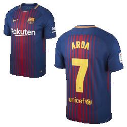 Мужское футбольное джерси 2017/18 FC Barcelona Stadium Home (Arda Turan)Мужское футбольное джерси 2017/18 FC Barcelona Home из легкой влагоотводящей ткани обеспечивает охлаждение и комфорт.<br>