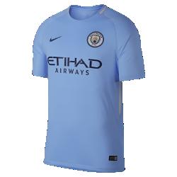 Мужское футбольное джерси 2017/18 Manchester City FC Stadium HomeМужское футбольное джерси 2017/18 Manchester City FC Stadium Home из легкой влагоотводящей ткани обеспечивает охлаждение и комфорт.<br>