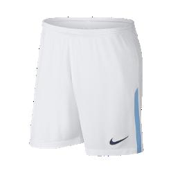 Мужские футбольные шорты 2017/18 Manchester City FC StadiumМужские футбольные шорты 2017/18 Manchester City FC Stadium из дышащей влагоотводящей ткани с эластичными вставками из сетки обеспечивают длительный комфорт и естественную свободу движений.<br>