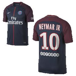 Мужское футбольное джерси 2017/18 Paris Saint-Germain Stadium HomeМужское футбольное джерси 2017/18 Paris Saint-Germain Stadium Home из легкой влагоотводящей ткани обеспечивает охлаждение и комфорт. Преимущества  Технология Dri-FIT отводит влагу и обеспечивает комфорт Ткань Nike Breathe отводит влагу и обеспечивает охлаждение Боковые вставки из эластичной рубчатой ткани и прилегающий крой не ограничивают движений  Информация о товаре  Реплика формы с клубной символикой Состав: Dri-FIT 100% переработанный полиэстер Машинная стирка Импорт<br>