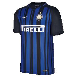 Мужское футбольное джерси 2017/18 Inter Milan Stadium HomeМужское футбольное джерси 2017/18 Inter Milan Stadium Home из легкой влагоотводящей ткани обеспечивает охлаждение и комфорт.<br>