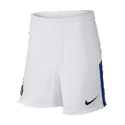 Мужские футбольные шорты 2017/18 Inter Milan Stadium Home/AwayМужские футбольные шорты 2017/18 Inter Milan Stadium Home/Away из дышащей влагоотводящей ткани с эластичными вставками из сетки обеспечивают длительный комфорт и естественную свободу движений.<br>