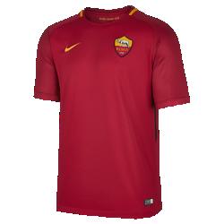 Мужское футбольное джерси 2017/18 A.S. Roma Stadium HomeМужское футбольное джерси 2017/18 A.S. Roma Stadium Home из легкой влагоотводящей ткани обеспечивает охлаждение и комфорт.<br>