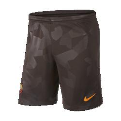 Мужские футбольные шорты 2017/18 A.S. Roma Stadium ThirdМужские футбольные шорты 2017/18 A.S. Roma Stadium Third из легкой ткани со вставками из эластичной сетки обеспечивают длительный комфорт и естественную свободу движений.<br>