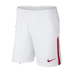 Мужские футбольные шорты 2017/18 A.S. Roma Stadium Home/AwayМужские футбольные шорты 2017/18 A.S. Roma Stadium Home/Away из легкой воздухопроницаемой ткани клубных цветов украшены тканой эмблемой команды.<br>