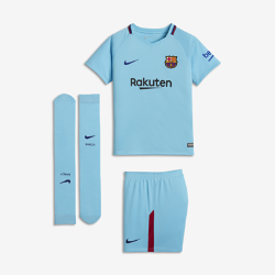 Футбольный комплект для дошкольников 2017/18 FC Barcelona Stadium AwayФутбольный комплект для дошкольников 2017/18 FC Barcelona Stadium Away включает джерси с коротким рукавом, шорты и гетры из дышащей ткани с символикой клуба.<br>