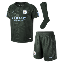 Футбольный комплект для дошкольников 2017/18 Manchester City FC Stadium ThirdФутбольный комплект для дошкольников 2017/18 Manchester City FC Stadium Third включает джерси с коротким рукавом, шорты и носки из дышащей ткани с символикой команды.<br>