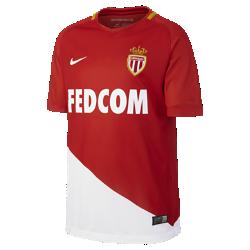 Футбольное джерси для школьников 2017/18 AS Monaco Stadium HomeФутбольное джерси для школьников 2017/18 AS Monaco Stadium Home из дышащей влагоотводящей ткани обеспечивает охлаждение и комфорт.<br>