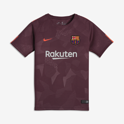 Детское футбольное джерси 2017/18 FC Barcelona Stadium ThirdДетское футбольное джерси 2017/18 FC Barcelona Stadium Third из легкой влагоотводящей ткани обеспечивает охлаждение и комфорт.<br>