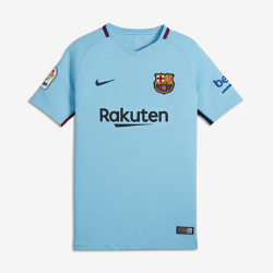 2017/18 FC Barcelona Stadium Away Older Kids' Football Shirt