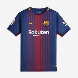 Футбольное джерси для школьников 2017/18 FC Barcelona HomeФутбольное джерси для школьников 2017/18 FC Barcelona Stadium Home из легкой влагоотводящей ткани обеспечивает охлаждение и комфорт.<br>