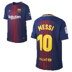 Футбольное джерси для школьников 2017/18 FC Barcelona Home (Lionel Messi)Футбольное джерси для школьников 2017/18 FC Barcelona Stadium Home из легкой влагоотводящей ткани обеспечивает охлаждение и комфорт.<br>