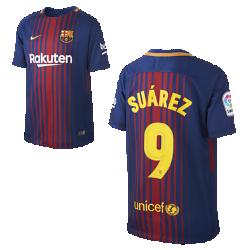 Футбольное джерси для школьников 2017/18 FC Barcelona Home (Luis Suarez)Футбольное джерси для школьников 2017/18 FC Barcelona Stadium Home из легкой влагоотводящей ткани обеспечивает охлаждение и комфорт.<br>