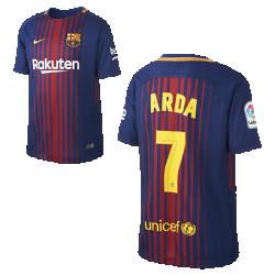 Футбольное джерси для школьников 2017/18 FC Barcelona Home (Arda Turan)Футбольное джерси для школьников 2017/18 FC Barcelona Stadium Home из легкой влагоотводящей ткани обеспечивает охлаждение и комфорт.<br>