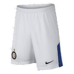 Футбольные шорты для школьников 2017/18 Inter Milan Stadium Home/AwayФутбольные шорты для школьников 2017/18 Inter Milan Stadium Home/Away из легкой ткани обеспечивают прохладу и комфорт на поле и на трибунах.<br>