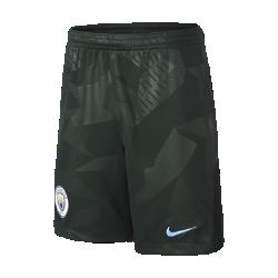 Футбольные шорты для школьников 2017/18 Manchester City FC Stadium ThirdФутбольные шорты для школьников 2017/18 Manchester City FC Stadium Third обеспечивают легкость и комфорт на трибунах или улицах города.<br>