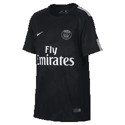 Футбольное джерси для школьников 2017/18 Paris Saint-Germain Stadium ThirdФутбольное джерси для школьников 2017/18 Paris Saint-Germain Stadium Third из дышащей влагоотводящей ткани обеспечивает охлаждение и комфорт.<br>