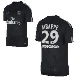 Футбольное джерси для школьников 2017/18 Paris Saint-Germain Stadium Third (Mbapp?)Футбольное джерси для школьников 2017/18 Paris Saint-Germain Stadium Third из дышащей влагоотводящей ткани обеспечивает охлаждение и комфорт.<br>