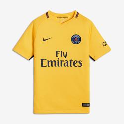 Футбольное джерси для школьников 2017/18 Paris Saint-Germain Stadium AwayФутбольное джерси для школьников 2017/18 Paris Saint-Germain Stadium Away из дышащей влагоотводящей ткани обеспечивает охлаждение и комфорт.<br>